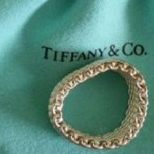 Authentic Tiffany an co.mesh ring sz 8